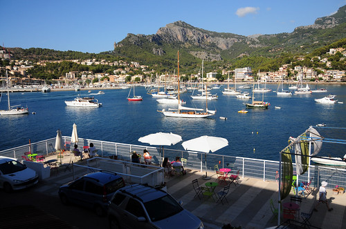 Soller Bay view from Citric Hotel Terrace