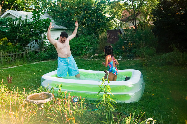 Pools For Backyards Inflatable : Backyard Inflatable Pool August 30, 20104  Flickr  Photo Sharing!