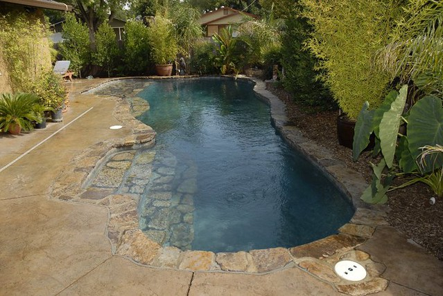 Custom Built Inground Pool With Natural Setting Flickr