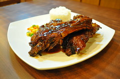 meal, ribs, pork ribs, food, dish, cuisine,