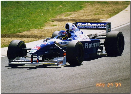 Jacques Villeneuve Williams Renault FW19 F1. 1997 British GP Test Silverstone