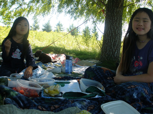 Sophia and Olivia on Picnic
