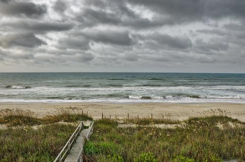 ocean sky seascape beach water grass clouds reeds landscape nc nikon dune northcarolina atlantic outerbanks atlanticocean emeraldisle hdr highdynamicrange sanddunes d90 hdrphotography beachphotography nikond90 theouterbanksofnorthcarolina