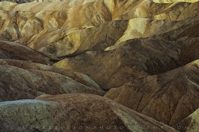 Layered Earth - Zabriskie Point, Death Valley National Park, California