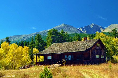 autumn trees mountains fall cabin colorado fallcolor fallfoliage co aspens rockymountains mtmeeker changingseasons pammorris nikond5000 denverpam