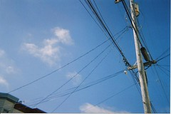 electrical supply, overhead power line, line, transmission tower, electricity, sky,