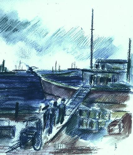 VAN GOGH ARRIVES IN YOKOHAMA by roberthuffstutter