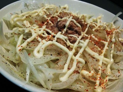 #jisui カトキチの冷凍うどんでサラダうどん!美味い!
