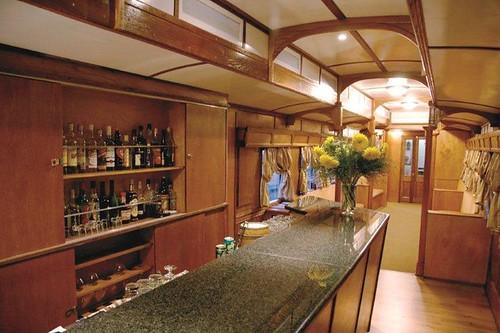 The bar on the<br /> Shongololo Express (southern Africa)