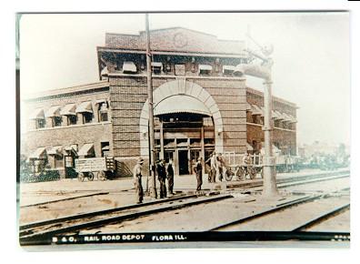 B&O RAILROAD DEPOT, FLORA, IL