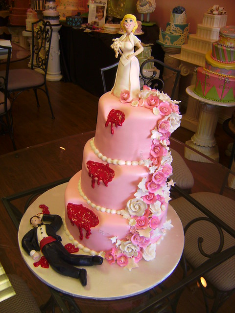 Pink Divorce Cake Flickr Photo Sharing