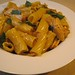 Rigatoni with Braised Chicken and Saffron Cream