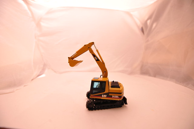 Cat  312BL  excavator  1/50th  scale diecast  metal  by  Norscot