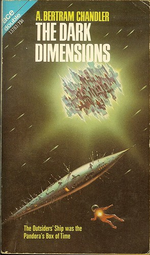 A. Bertram Chandler - Dark Dimensions - Ace Double 13783 - cover by Kelly Freas