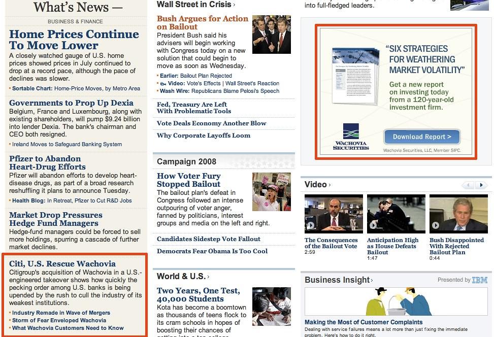 WSJ Wachovia-Funny-20080930 | Citigroup and the US Governmen