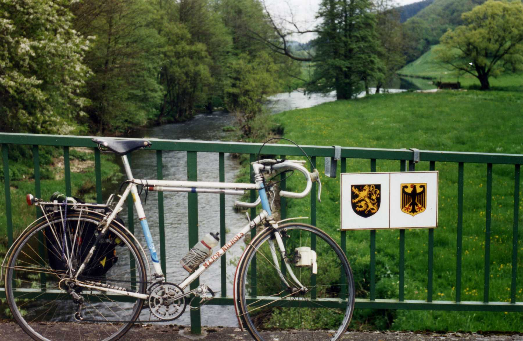 Biking in Luxembourg.