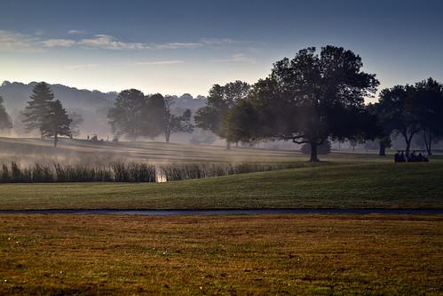 ohio fog sunrise day clear oakwood dayton golfers kettering metropark hillsdales