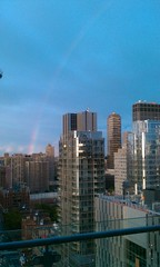 I love that time after all the rains stop... and the sun starts to come  out... Rainbow in NYC