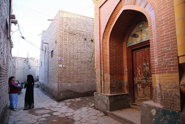 カシュガル旧市街、路地の小さなモスク