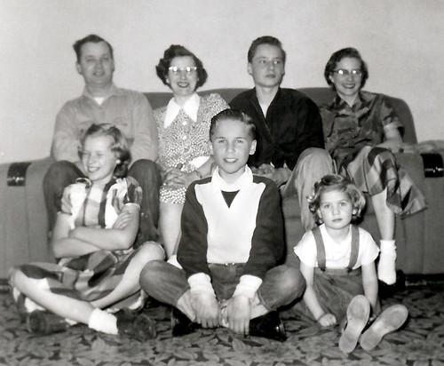 The Bill & Marie (Schlegel) Godsil Family March 1955