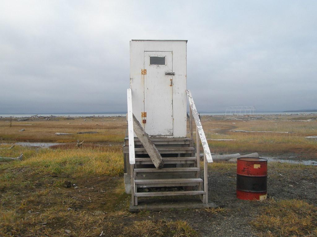 Shitter at Herschel Island, Yukon, Canada