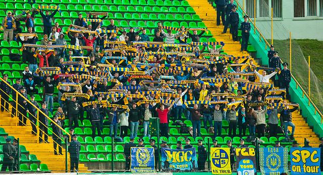 Гостевой сектор стадиона Украина