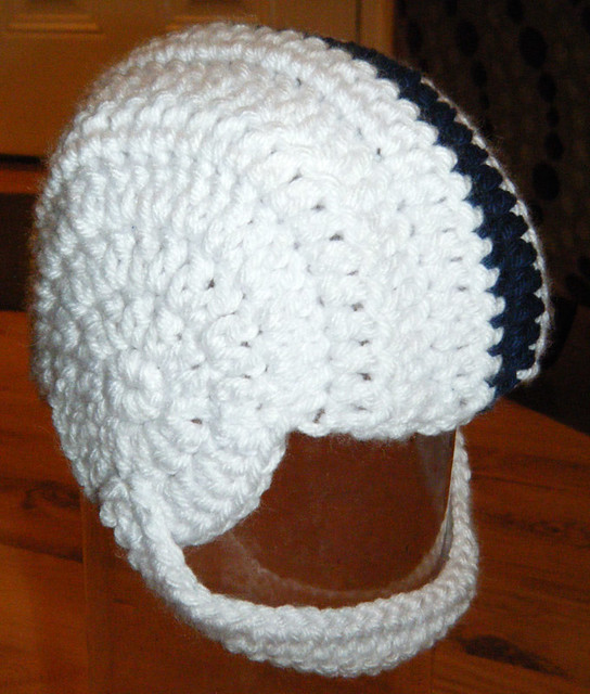 Crochet Pattern Baby Hat Free : Crochet baby PSU football helmet Flickr - Photo Sharing!