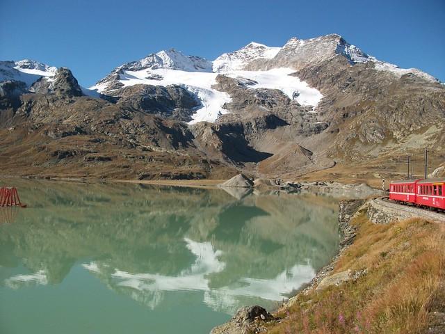 Swiss Alps, Bernina Express views