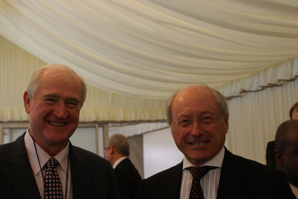 Dr Eddie O'Connor and Sir Roy Gardner