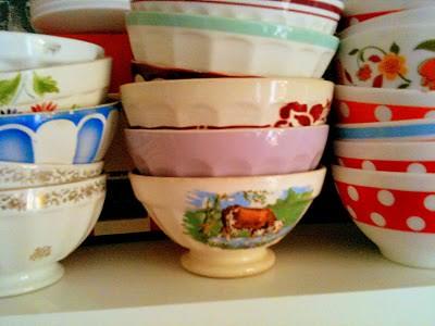 Vintage Cafe Au Lait Bowls 73