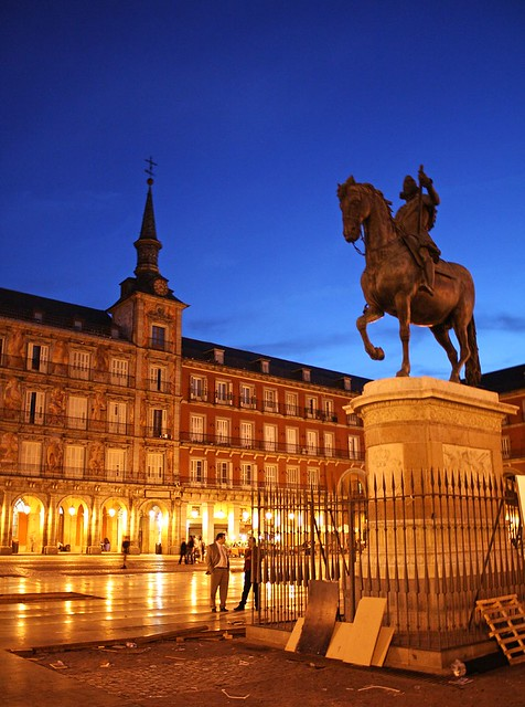 Night in Madrid, Plaza Mayor  Flickr - Photo Sharing!