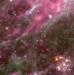 Stars in the Tarantula Nebula (NASA, Hubble, Aura, 04/01/99)