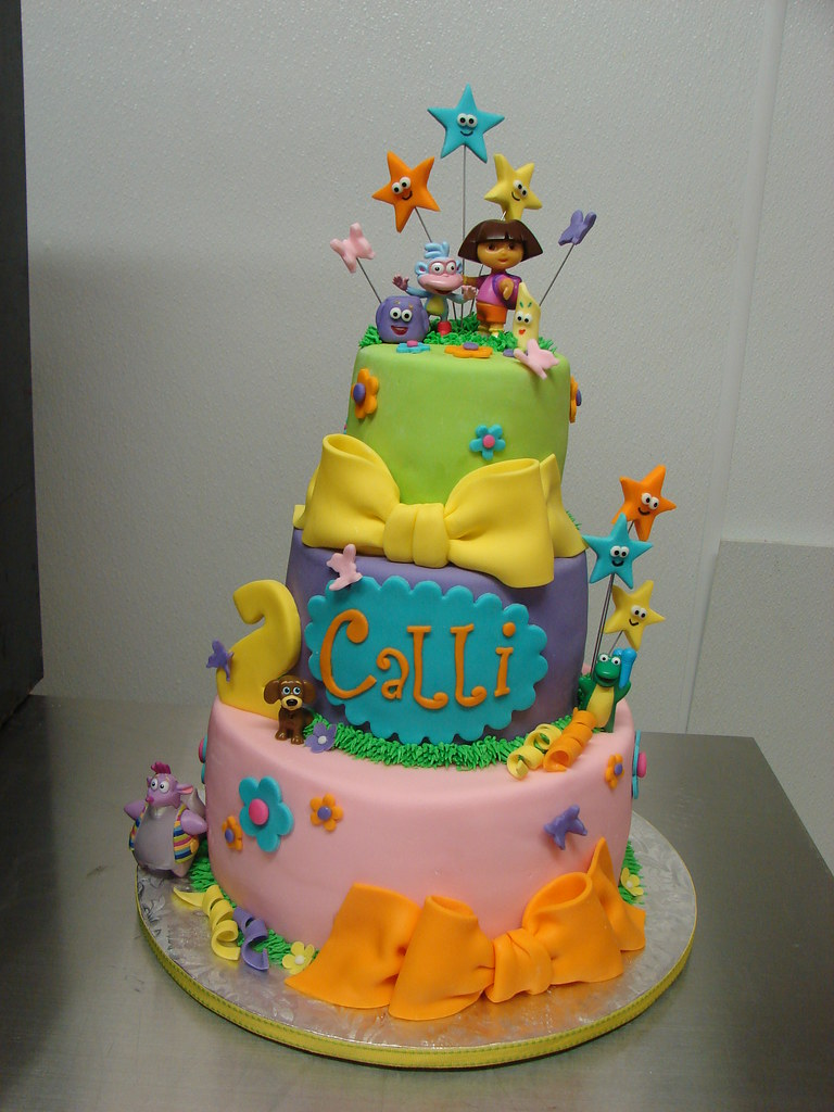 birthday cakes of dora the explorer