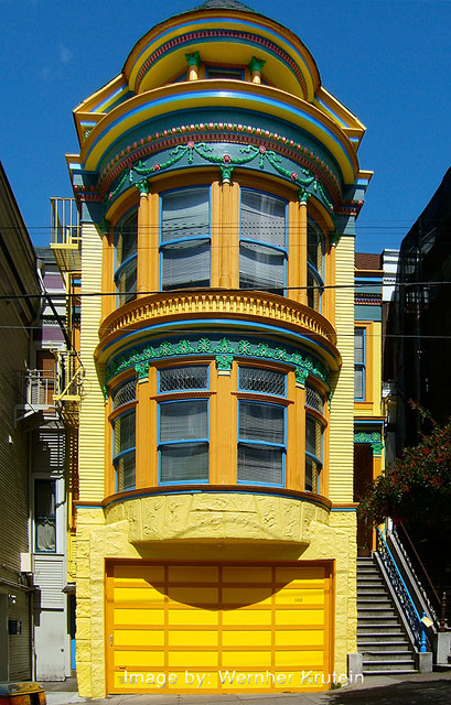Painted victorian house san francisco flickr photo for San francisco victorian houses