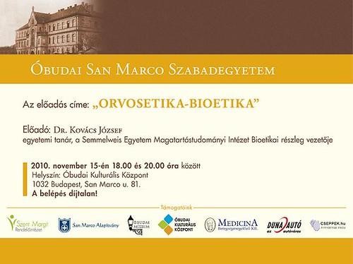 San Marco Szabadegyetem: Dr. Kovács József