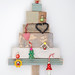 wood & wool stool x-mas tree