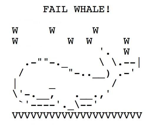 One Line Ascii Art For Texting : Twitter fail whale ascii art flickr photo sharing