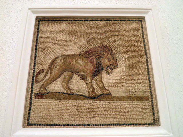 Mosaic from Colonia Aelia Augusta Itálica depicting a Lion, Archaeological Museum, Seville
