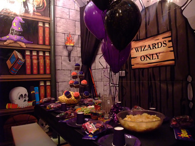 Wizard party set up table this is our new themed for Escape room party