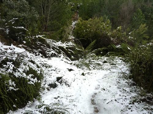 Le sentier RG de la Sainte-Lucie sous la neige