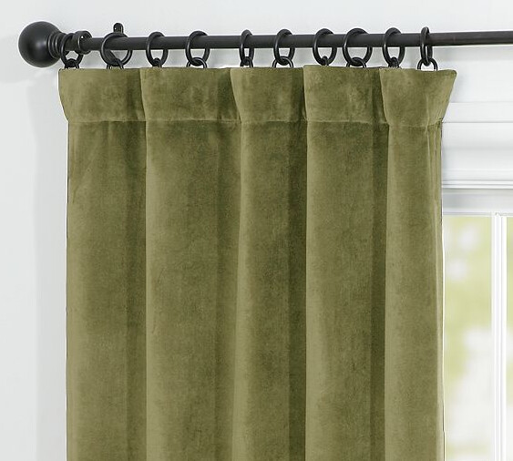 Olive Green Curtains Drapes Olive Green Silk Curtains