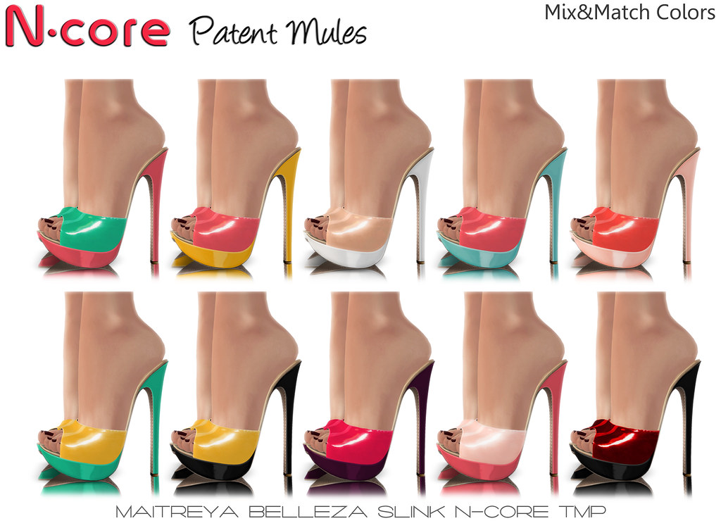 N-core Patent MULES (Special Offer!)- Mix&Match Colors - SecondLifeHub.com