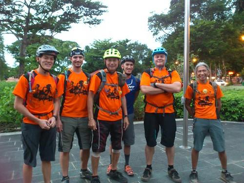 Volunteers of the Basic Mountain-biking course by Mountain Bike Association