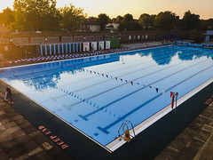 Charlton Lido sunset