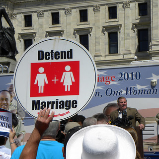National Organization for Marriage rally against same-sex marriage