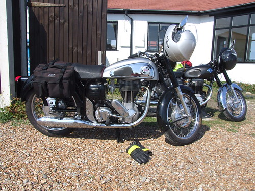 Norton motorcycle at Dungeness