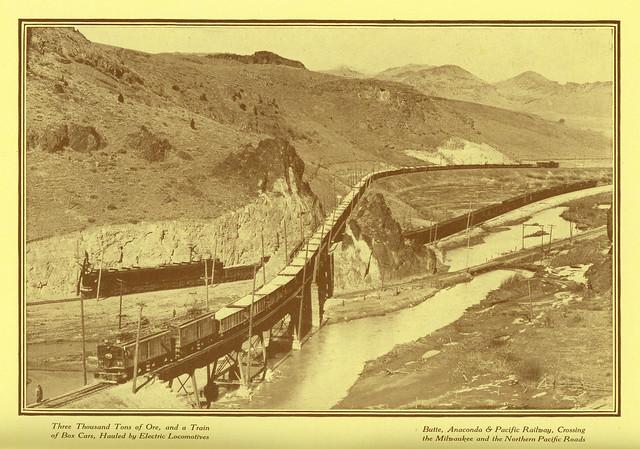 Butte Anaconda Amp Pacific Railway Crossing The Milwaukee