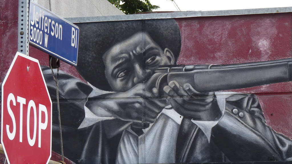 Black panther history mural for Black panther mural