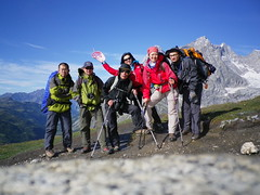 walking(0.0), extreme sport(0.0), climbing(0.0), adventure(1.0), mountain(1.0), sports(1.0), recreation(1.0), outdoor recreation(1.0), mountaineering(1.0), mountain range(1.0), backpacking(1.0), summit(1.0), ridge(1.0), hiking(1.0), mountainous landforms(1.0),