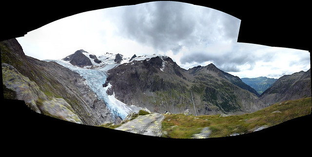 Panorama Triftglacier above Triftbridge